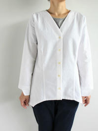 Worker's Nobility V SHIRT / WHITE COTTON - 『Bumpkins putting on airs』