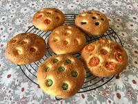 色々フォカッチャと島根 - カフェ気分なパン教室  ローズのマリ