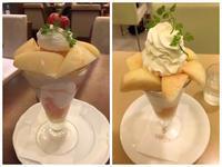 桃のパフェを千疋屋&京橋千疋屋それぞれのフルーツパーラーで…^^  - mayumin blog 2