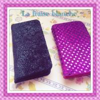 iPhone5 & iPhone4 ケース - La fraise blanche ~カルトナージュ&ハンドメイド~