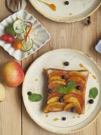 焦がしキャラメルりんごの幸せトースト。 - 陶器通販・益子焼 雑貨手作り陶器のサイトショップ 木のねのブログ