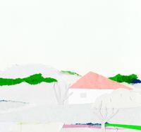 赤い屋根の家がある風景 - illustration note
