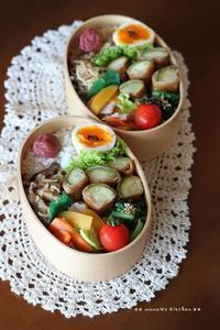 甲子園のもう1つの楽しみ方(ღ˘⌣˘ღ) ♫ ✿ bento&晩ご飯♪ - **  mana's Kitchen **