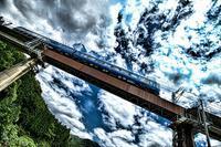 台風5号通過 - 今日も丹後鉄道