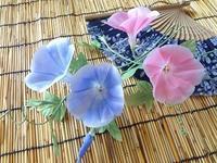 朝顔の花 - handmade flower maya