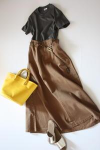 マキシスカートの秋スタイル - eikoのとことん着回しコーデ服