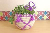 ベルベルバスケットの植木鉢カバー - フレンチモロカンハンドメイド&料理