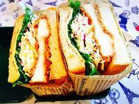 チキンカツでサンドイッチ弁当 - 平成のドカ弁。と。超高齢妊婦生活。