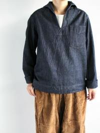 NEEDLES Sailor Shirt - 10oz Denim - 『Bumpkins putting on airs』