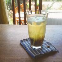 梅ジュースとプラムと冷やしぜんざい… - miyumiyu cafe