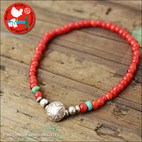 Sunku 39 [サンク] STAR CONCHA BEADS BRACELET /スターコンチョビーズブレスレッド [SK-207-RED] MEN'S/LADY'S - refalt   ...   kamp temps