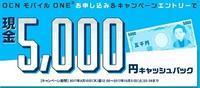 OCNモバイルONE ぷらら限定ページから契約でデータSIMでも5000円キャッシュバック - 白ロム転売法