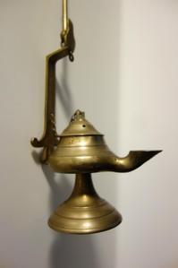 真鍮オイルランプ2 - スペイン・バルセロナ・アンティーク gyu's shop