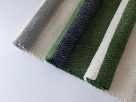裂き織り布、水通し前 - 日々のどか