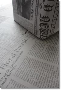 新聞紙でエコバック作り - My*Life