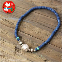 Sunku 39 [サンク] STAR CONCHA BEADS BRACELET /スターコンチョビーズブレスレッド [SK-207-IDG] MEN'S/LADY'S - refalt   ...   kamp temps