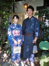 浴衣でお出かけ、西日が当たってすみません。 - 京都嵐山 着物レンタル&着付け「遊月」