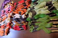 刺繍糸の整理 - 夢子さんのミシン