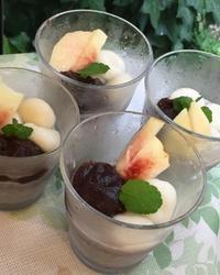 黒ごまプリンパフェ - 調布の小さな手作りお菓子・パン教室 アトリエタルトタタン