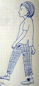 walking - たなかきょおこ-旅する絵描きの絵日記/Kyoko Tanaka Illustrated Diary