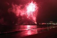 2017按針祭海の花火大会 左右の振り幅がミュンヘン五輪日本バレー♪ - Isao Watanabeの'Spice of Life'.