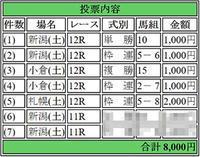 2017年8月12日最終レース「のみ」予想っす~☆ - 【TOWA】の最終レースのみ予想
