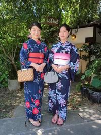 暑いけど爽やか、台湾から来られましたお嬢様たち。 - 京都嵐山 着物レンタル&着付け「遊月」