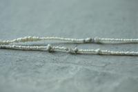 rough diamond  × Antique beads  long  necklace - womb_a_closet