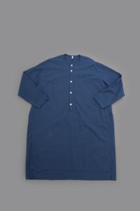 FIRMUM 20/- Cotton Sheeting Pullover Long Shirt - un.regard.moderne