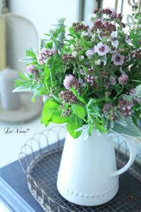 オーガニックハーブブーケとコラボレッスン - Le vase*  diary 横浜元町の花教室