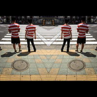 楳図Tシャツの交差点 - 正方形×正方形