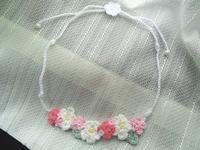 娘用お花のネックレス完成&小花のセーター着画 - D-E