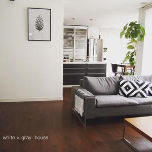 1番手軽な床掃除で夏休みを乗り切る(*´∀`*) - 白×グレーの四角いおうち
