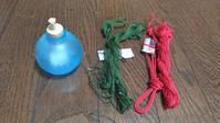 網袋の糸撚りが続く - よしのクラフトルーム