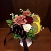 レモンティー - 花だより 海浜幕張駅 花屋 テーブルコサージュ・ラボ~フラワーショップ~