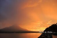 2017夏富士紀行-山中湖夕焼け- - さんたの富士山と癒しの射心館
