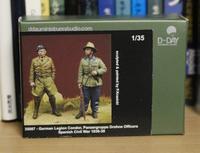 D-DAY miniature studio 35087 German Legion Condor, Panzergruppe Drohne Officers - Post-Retirement Modelling Life