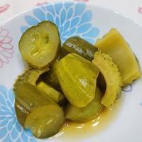 夏野菜のいしる煮 - 楽飯  ~ラクチンご飯~