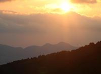 桜井市 西口 二上山 夕日 - 魅せられて大和路