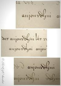 flemish体で短文を & 画面を通してパリを思う(8月12日) - わたしの足跡2