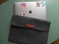 アップルノートパソコンのケース  横入れを縦入れにリフォーム  - リフォーム・縫製代行している縫物人(ぬいものびと) の ブログ