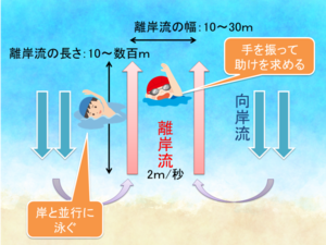 夏の海水浴シーズンに注意すべき離岸流~水泳選手でも流される速さ?!~ - 老若男女誰でも出来る心身の健康法と開運術