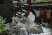 今回の豪雨で被害を受けた水車も以前の姿に戻りました - 信仙のブログ
