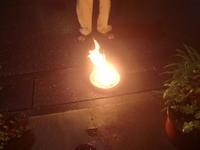 盆の送り火とブーゲンビリア - 活花生活(2)