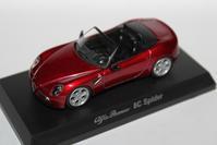 1/64 Kyosho Alfa Romeo 4 8C Spider - 1/87 SCHUCO & 1/64 KYOSHO ミニカーコレクション byまさーる