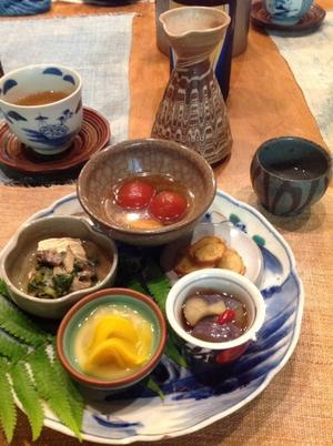 残暑見舞いはお食事会 - 石のコトバ
