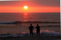 吹上浜の夕暮れⅡ。 - 青い海と空を追いかけて。