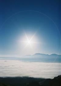 阿蘇谷の雲海 - ミニとベスパの4速アソビ