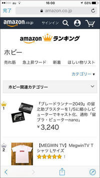 Amazonのホビー部門の人気度ランキングで1位 - 下呂温泉 留之助商店 店主のブログ