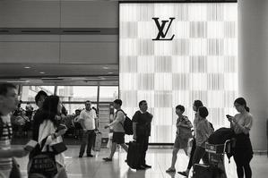 仁川空港にて -